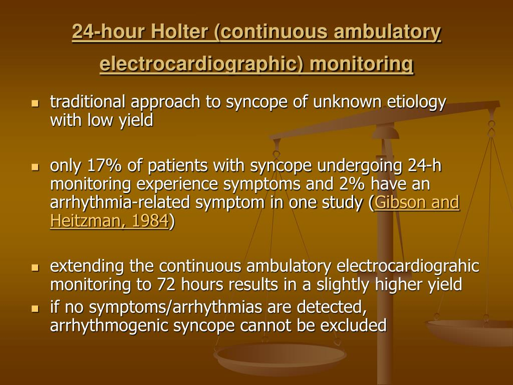 24-hour Holter (continuous ambulatory electrocardiographic) monitoring