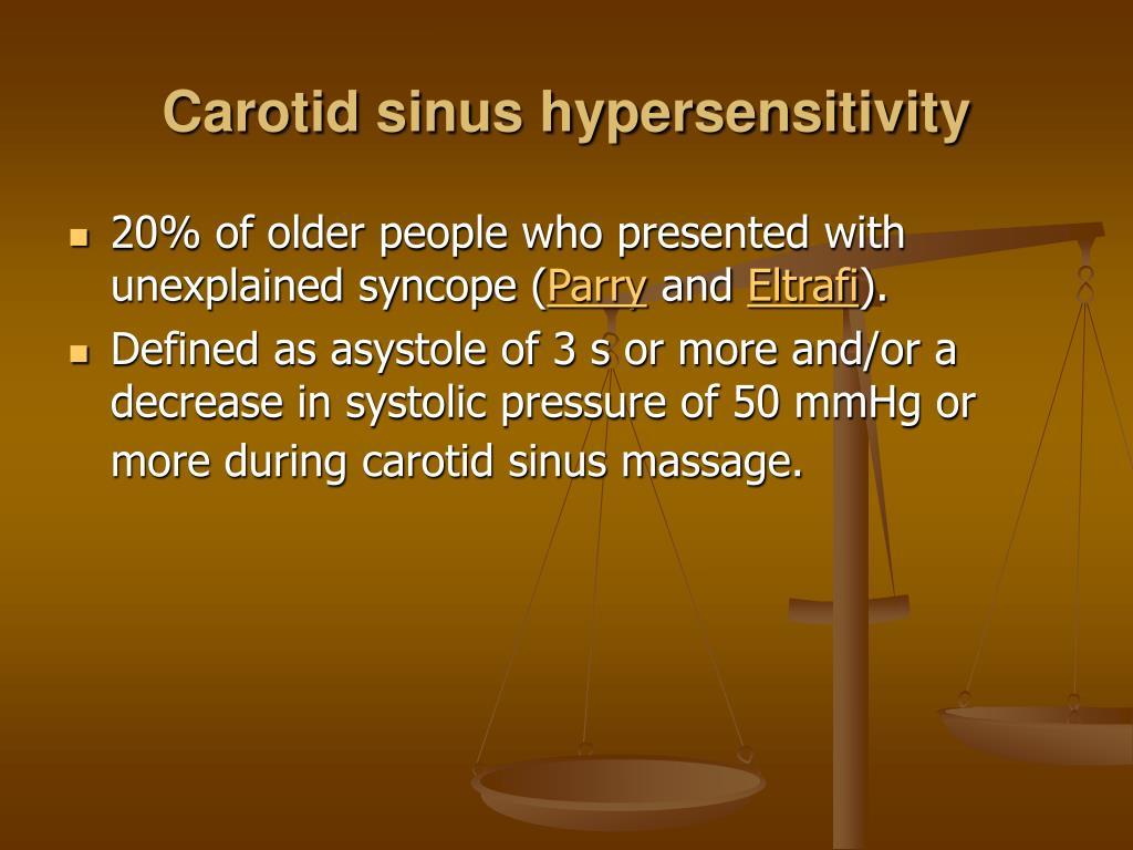 Carotid sinus hypersensitivity