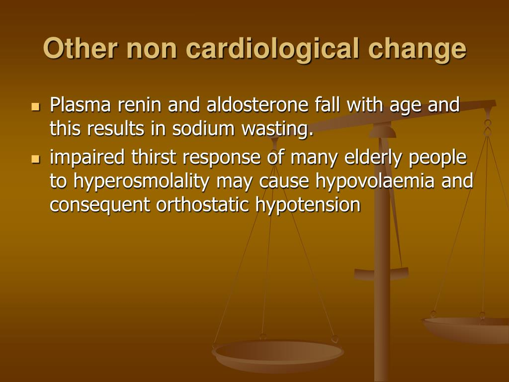 Other non cardiological change