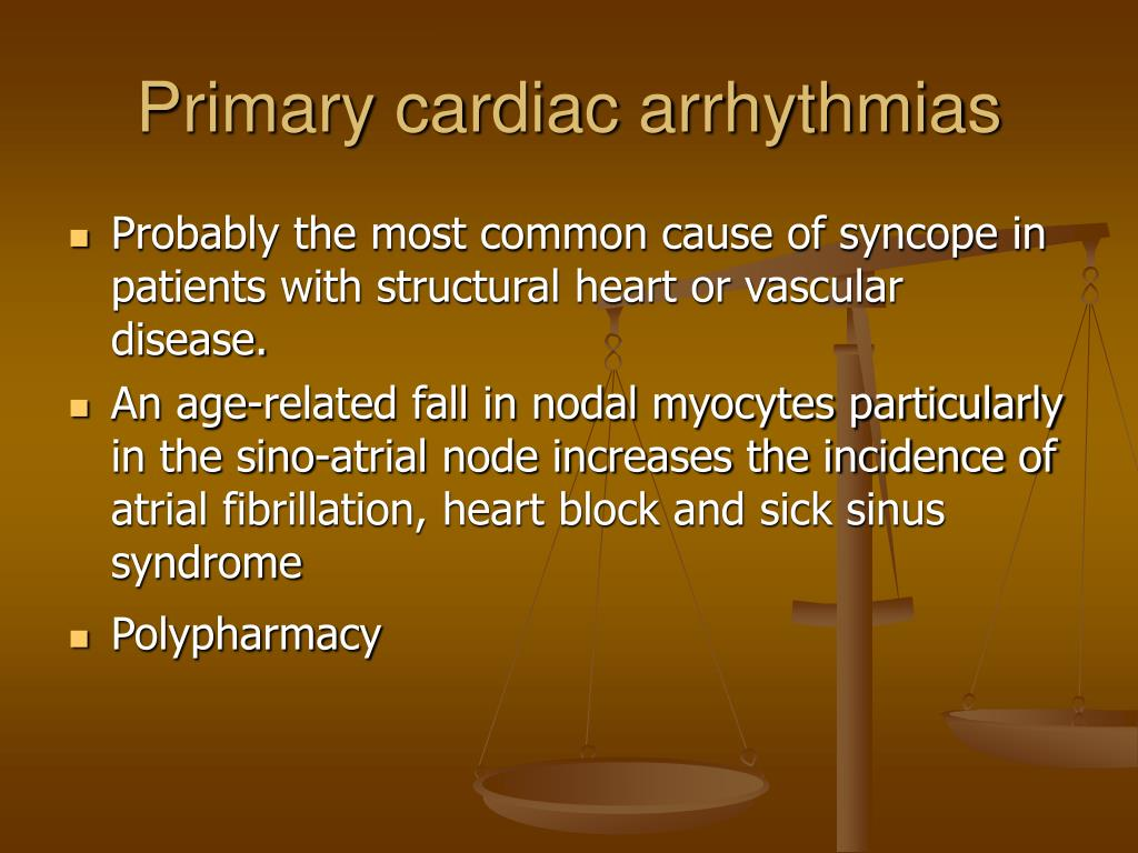 Primary cardiac arrhythmias