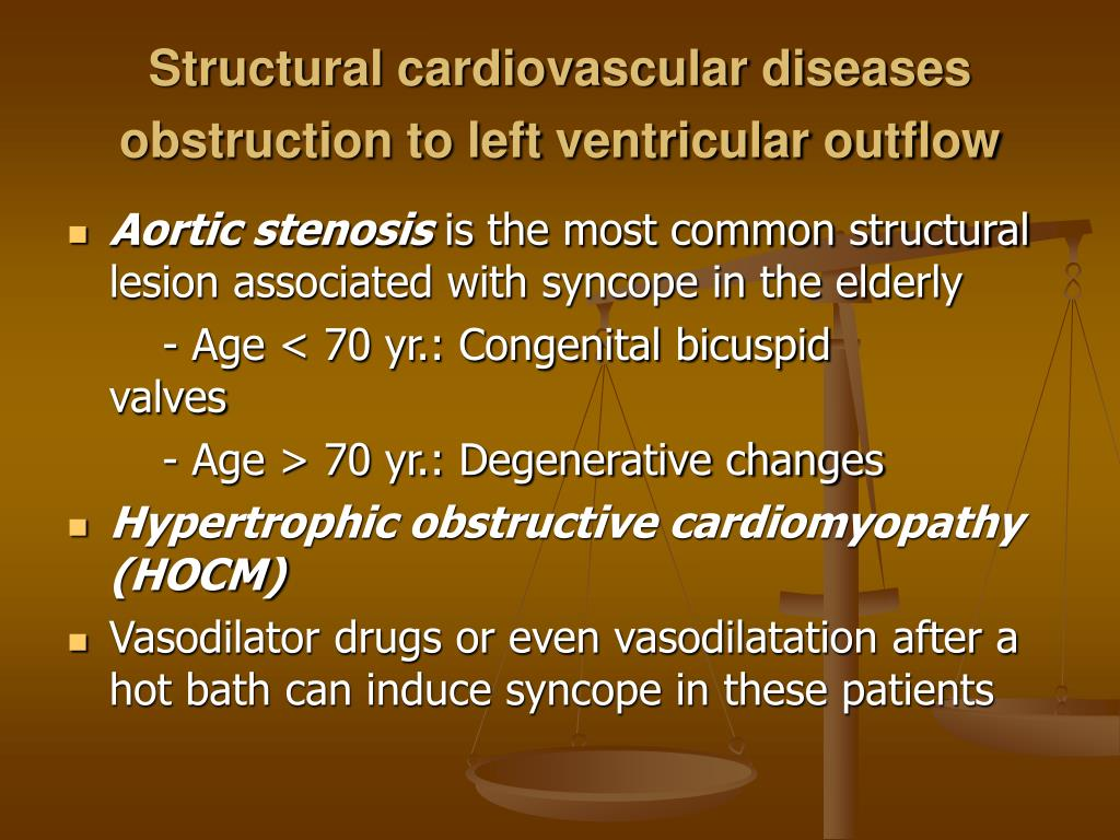 Structural cardiovascular diseases obstruction to left ventricular outflow