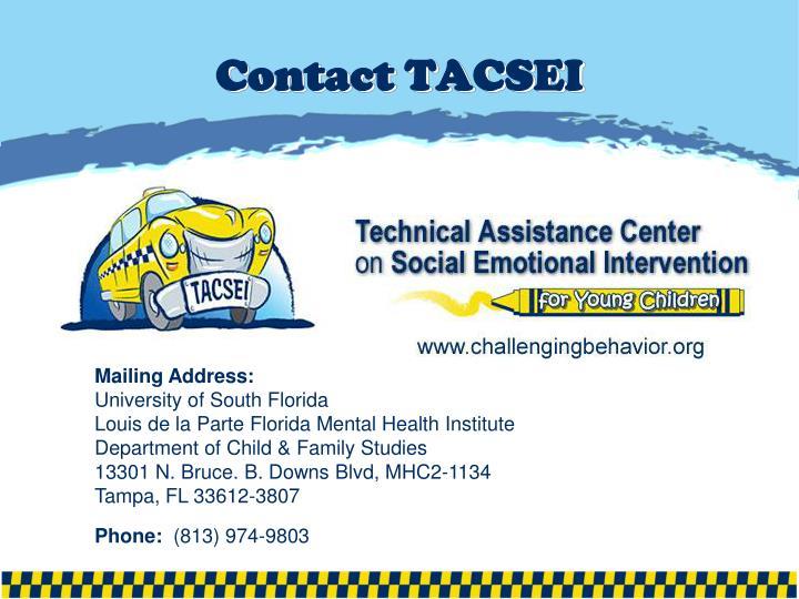 Contact TACSEI