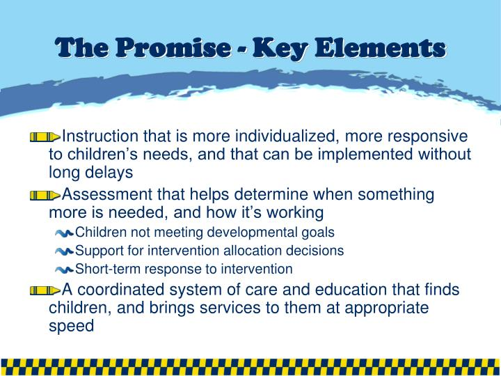 The Promise - Key Elements