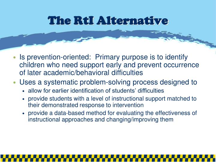 The RtI Alternative