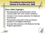 the medicare improvement for patients providers act 20082