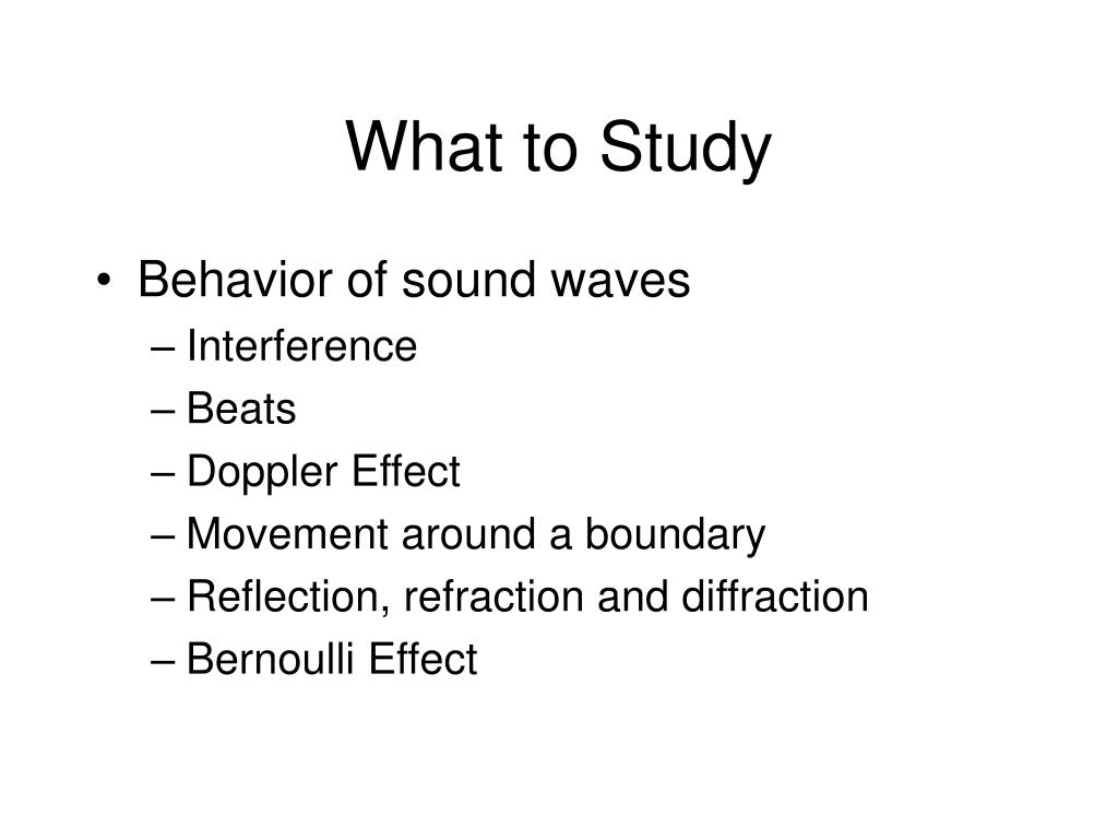 What to Study