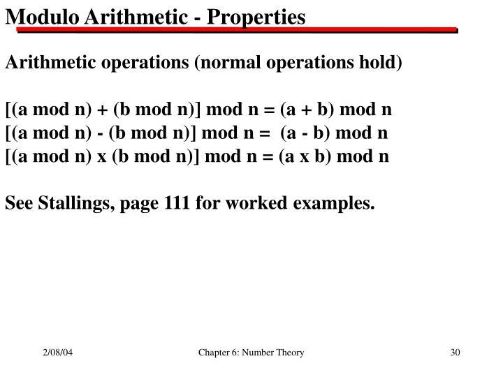 Modulo Arithmetic - Properties