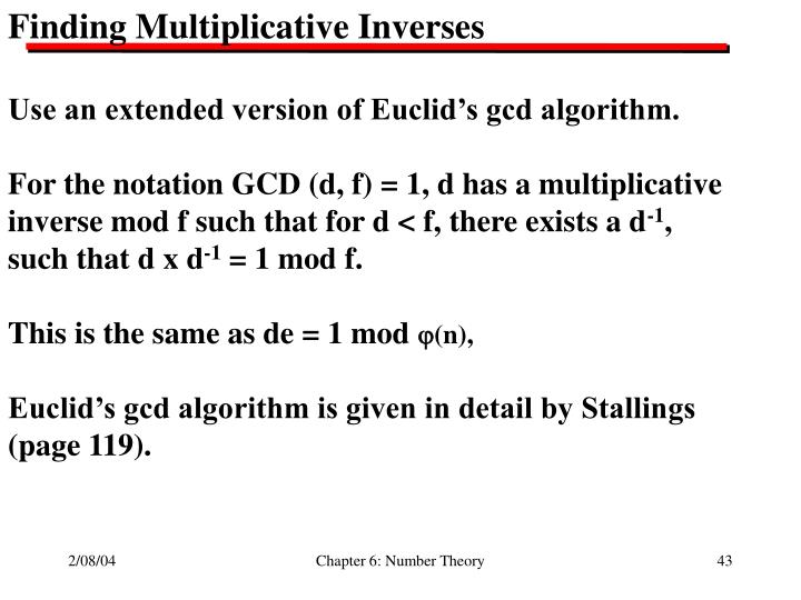 Finding Multiplicative Inverses