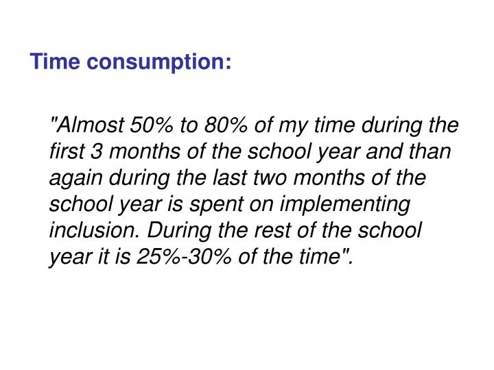 Time consumption: