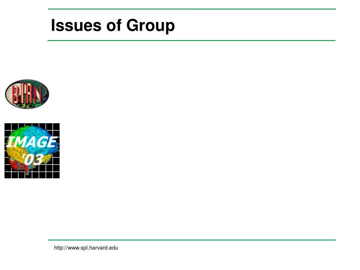 Issues of Group