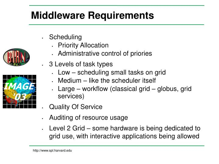 Middleware Requirements