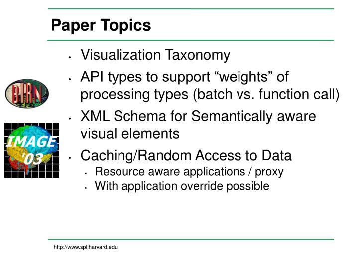 Paper Topics
