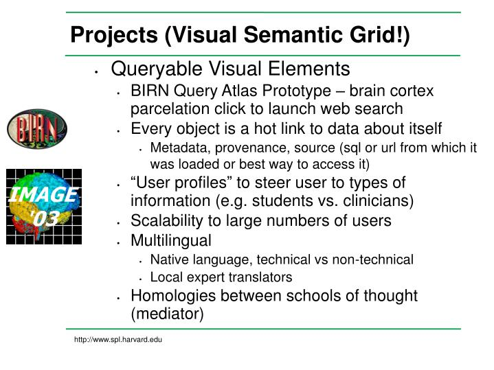 Projects (Visual Semantic Grid!)