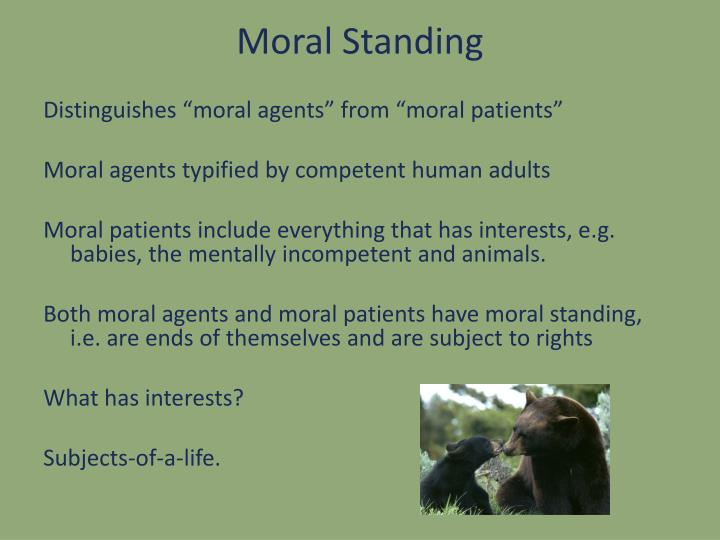 Moral Standing