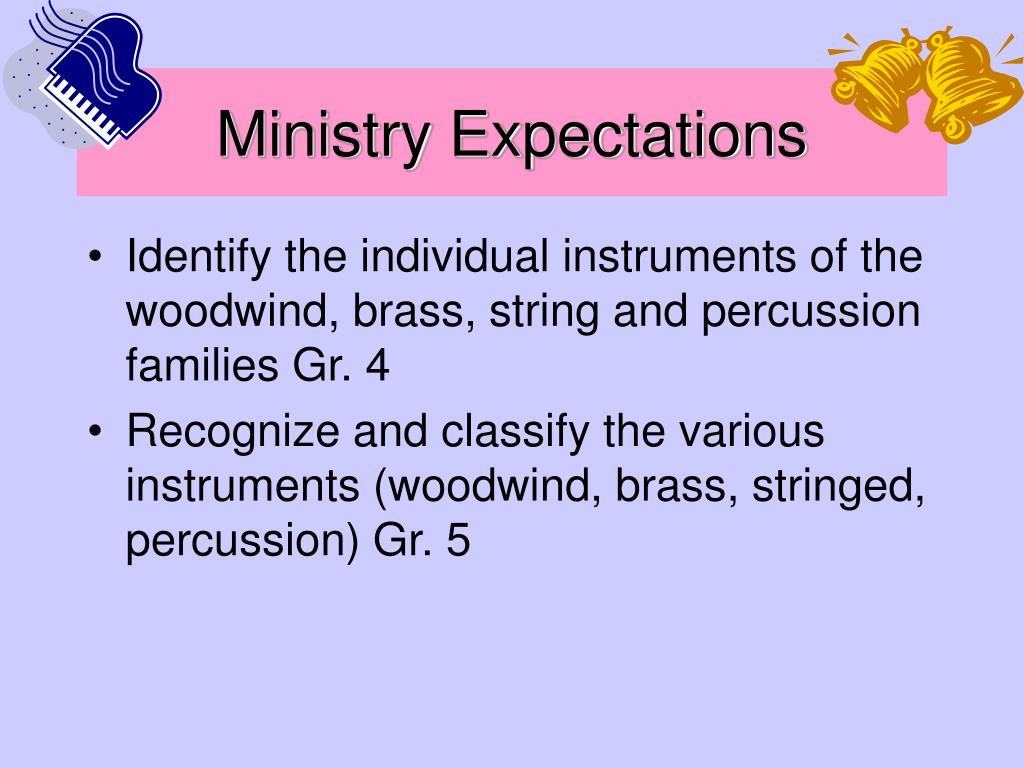 Ministry Expectations