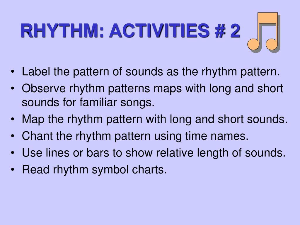 RHYTHM: ACTIVITIES # 2