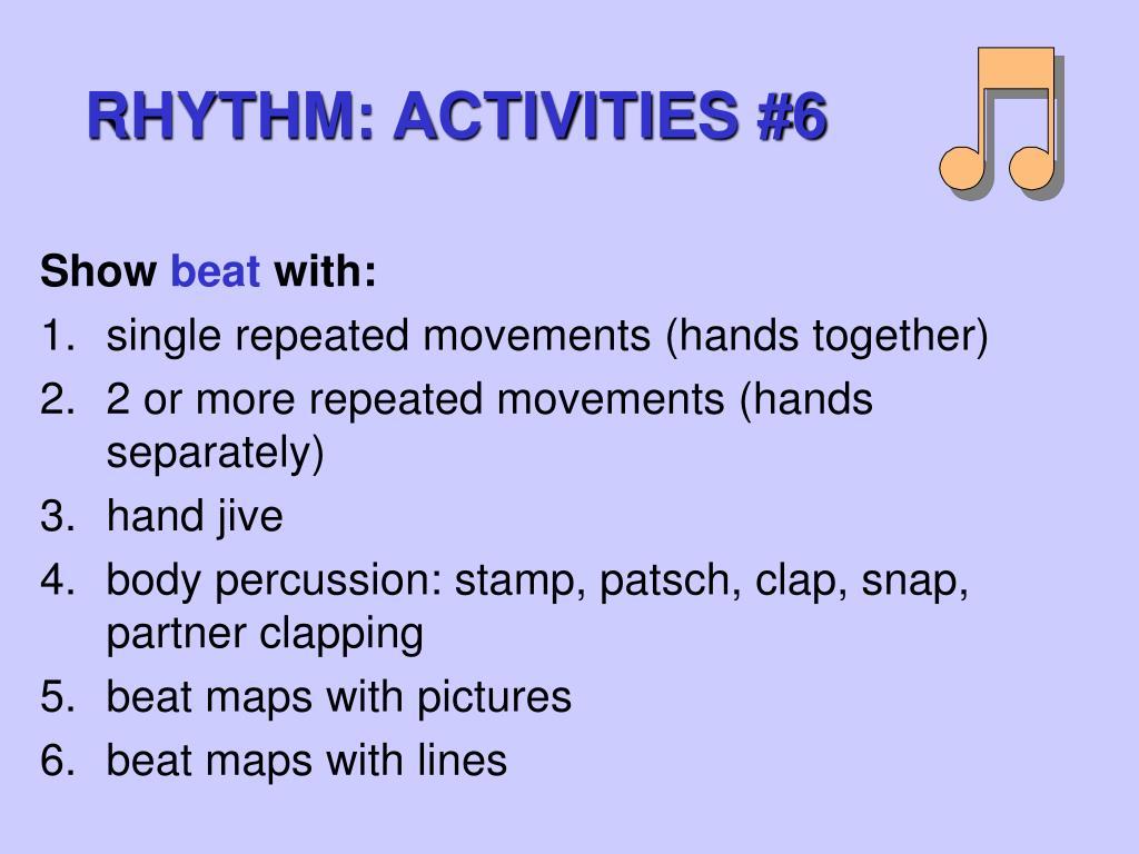 RHYTHM: ACTIVITIES #6