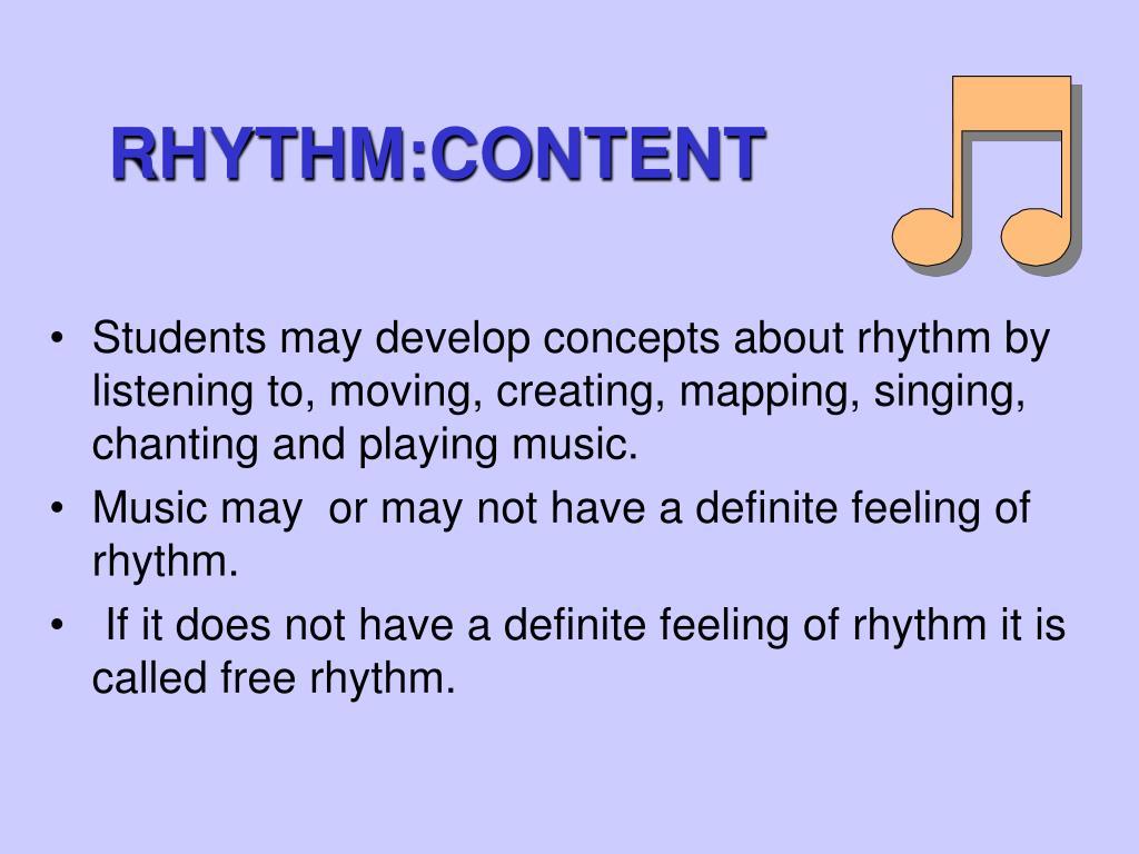 RHYTHM:CONTENT