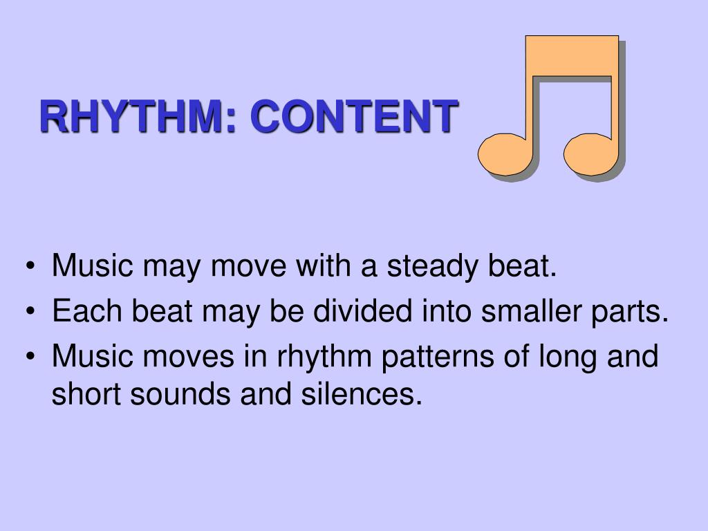 RHYTHM: CONTENT