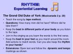 rhythm experiential learning
