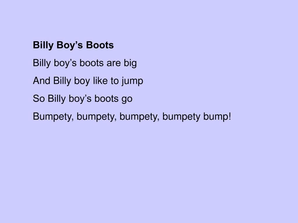 Billy Boy's Boots
