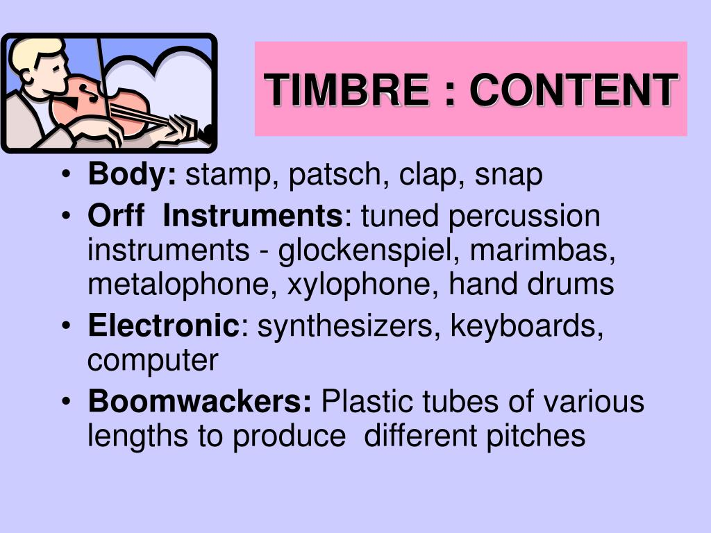 TIMBRE : CONTENT
