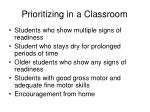 prioritizing in a classroom