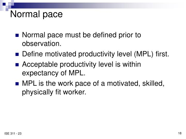 Normal pace