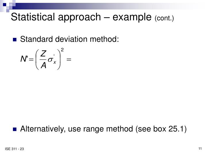 Statistical approach – example
