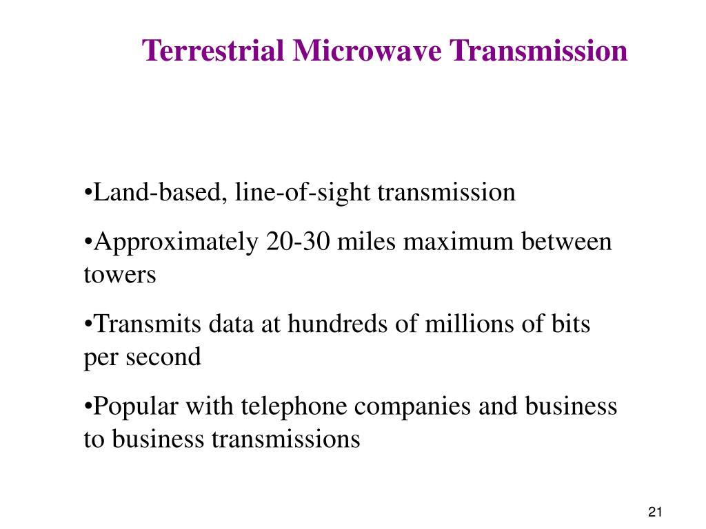 Terrestrial Microwave Transmission