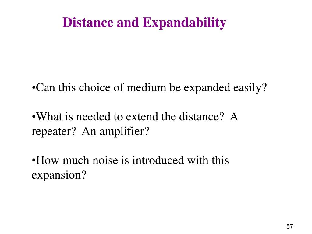 Distance and Expandability
