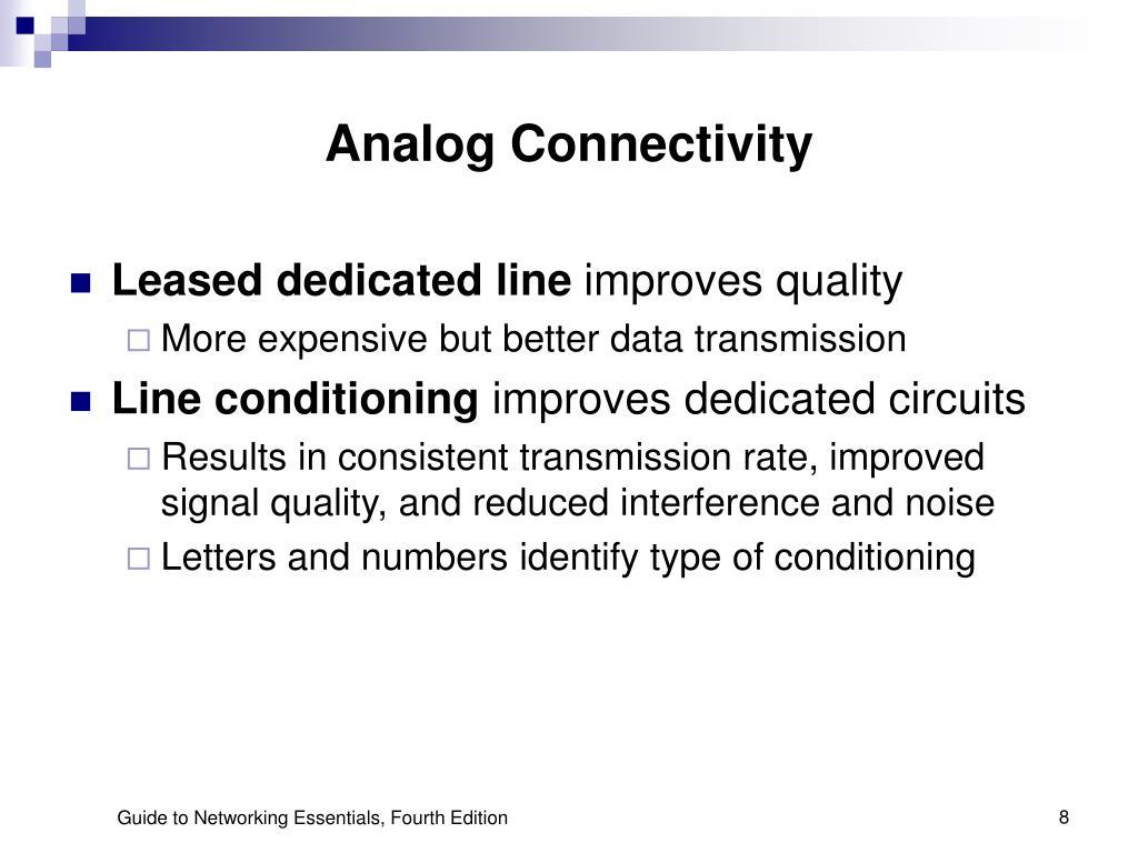 Analog Connectivity