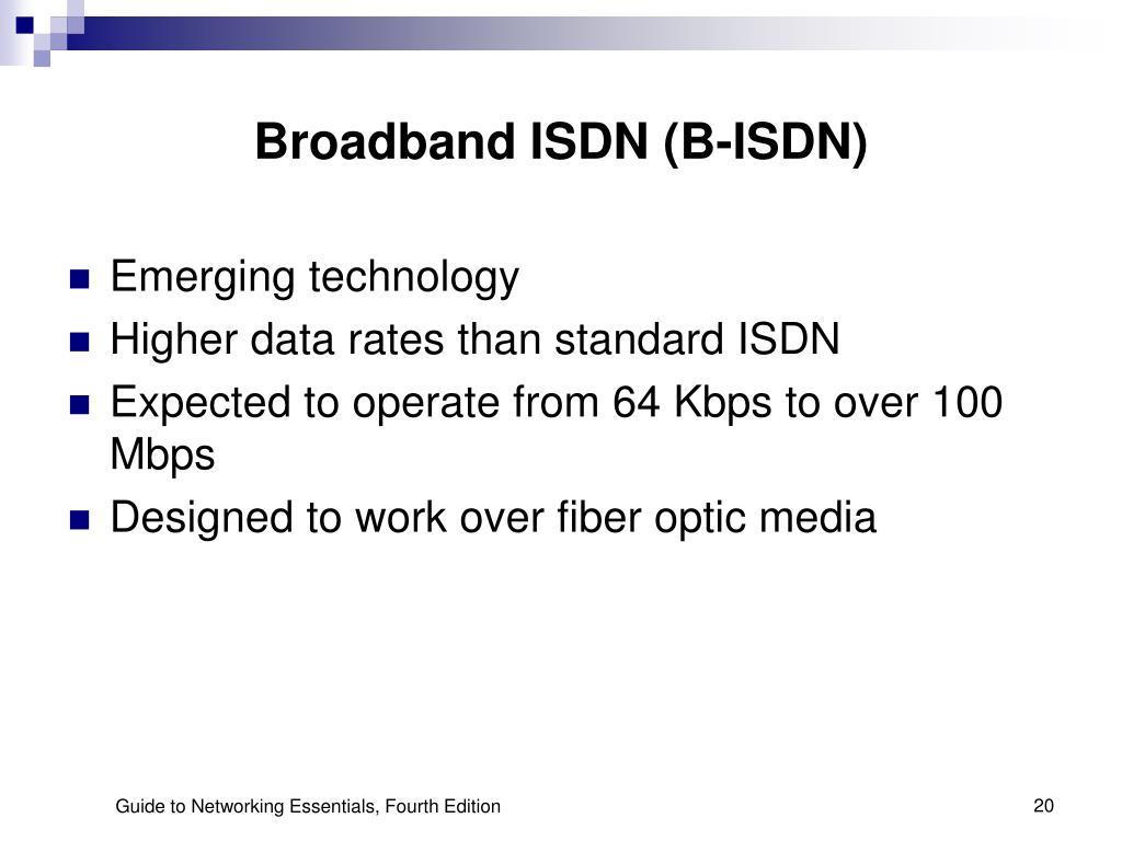 Broadband ISDN (B-ISDN)