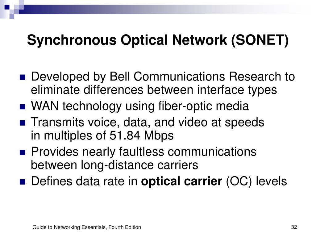 Synchronous Optical Network (SONET)