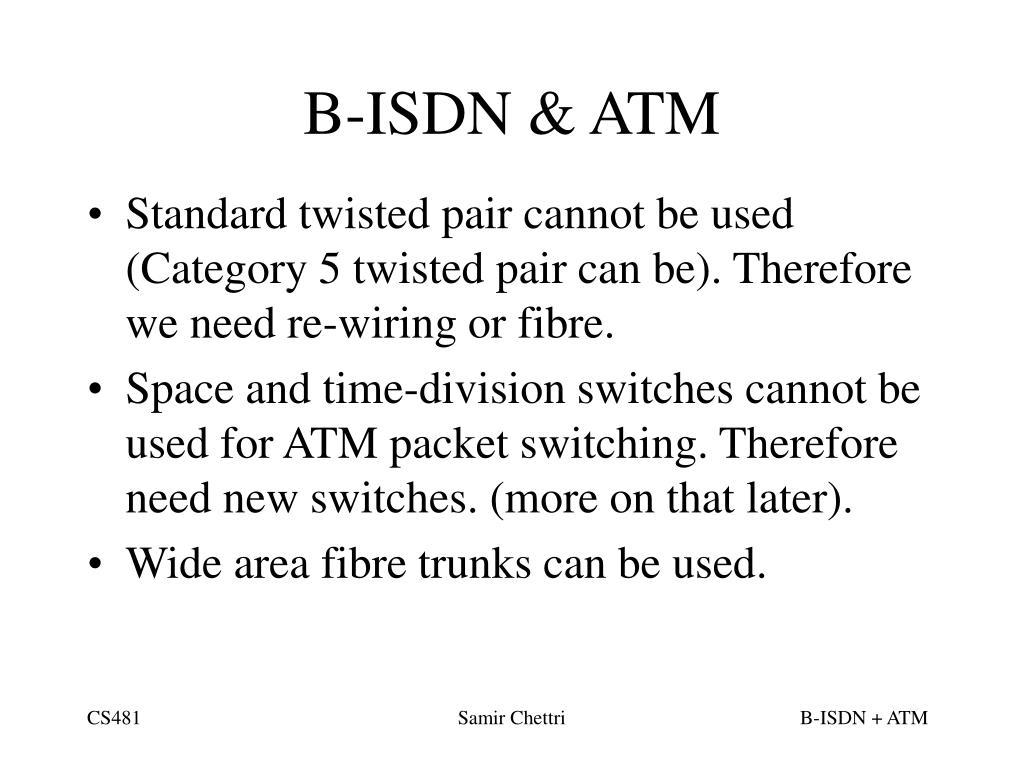 B-ISDN & ATM