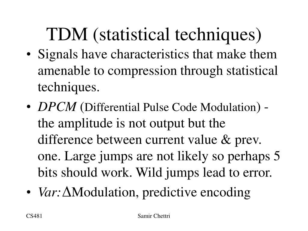 TDM (statistical techniques)