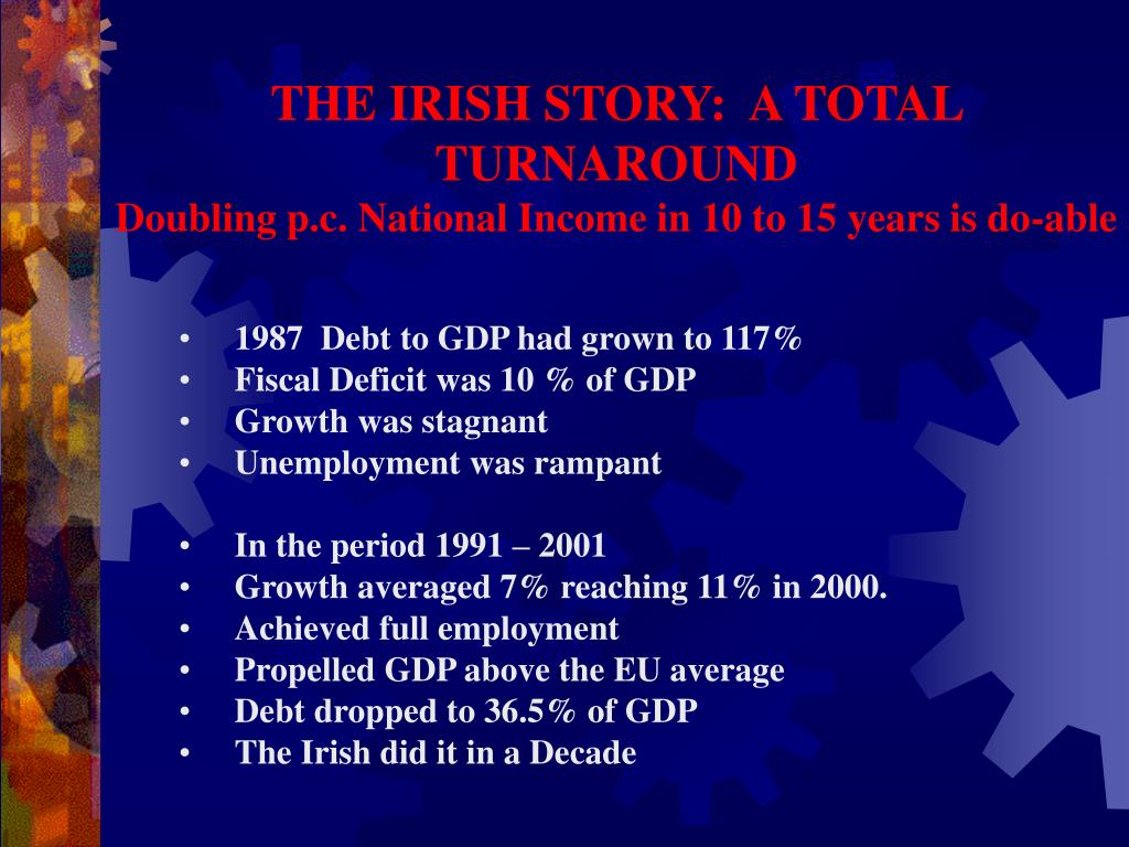 THE IRISH STORY:  A TOTAL TURNAROUND