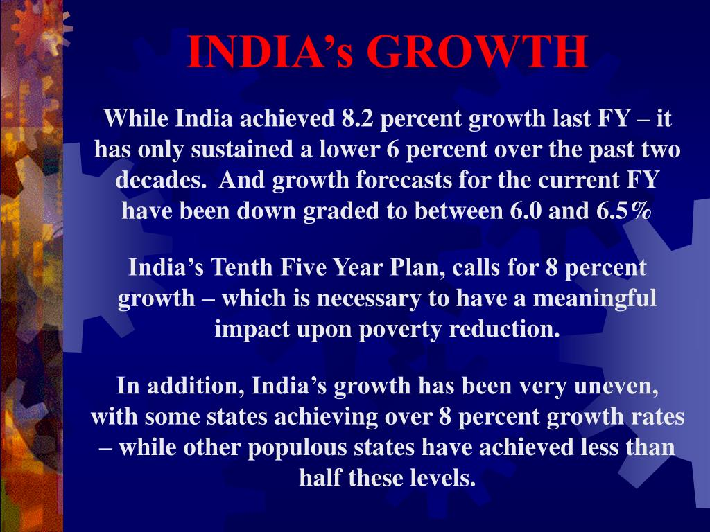 INDIA's GROWTH