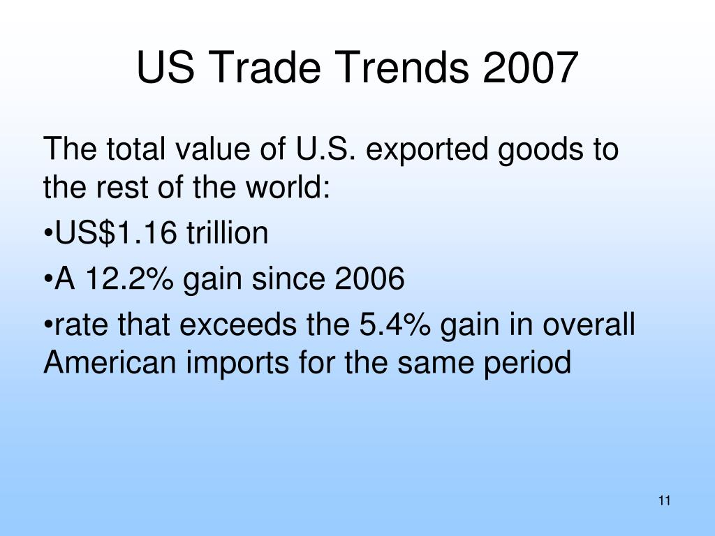 US Trade Trends 2007