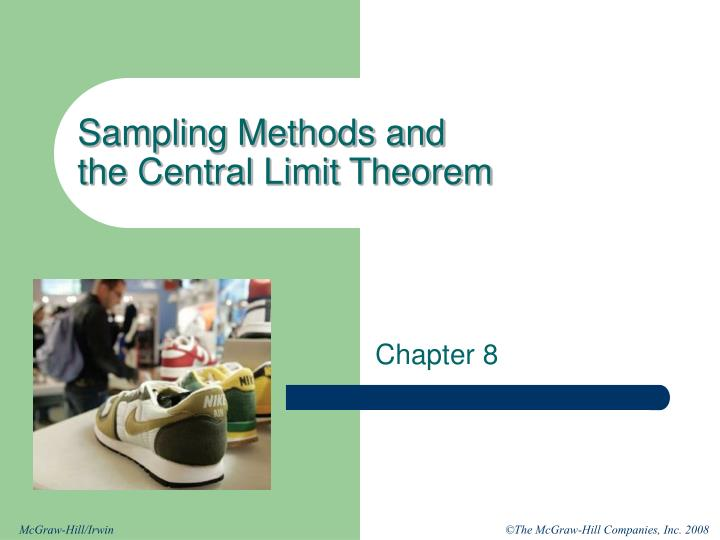 Sampling Methods and