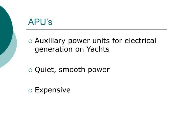 APU's