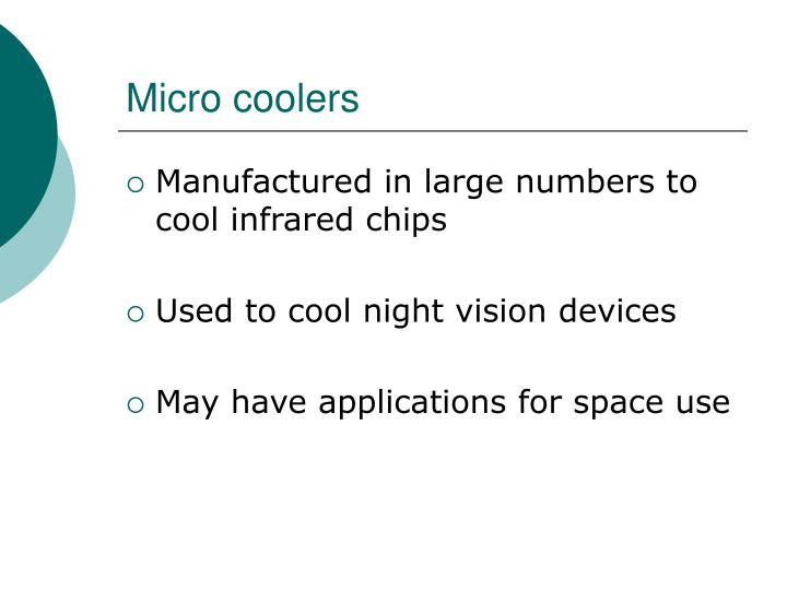 Micro coolers