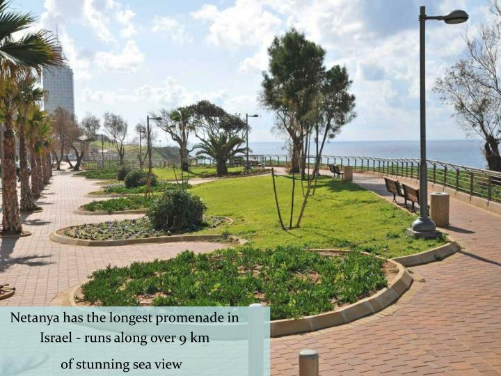 Netanya has the longest promenade in