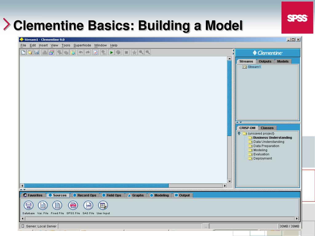 Clementine Basics: Building a Model
