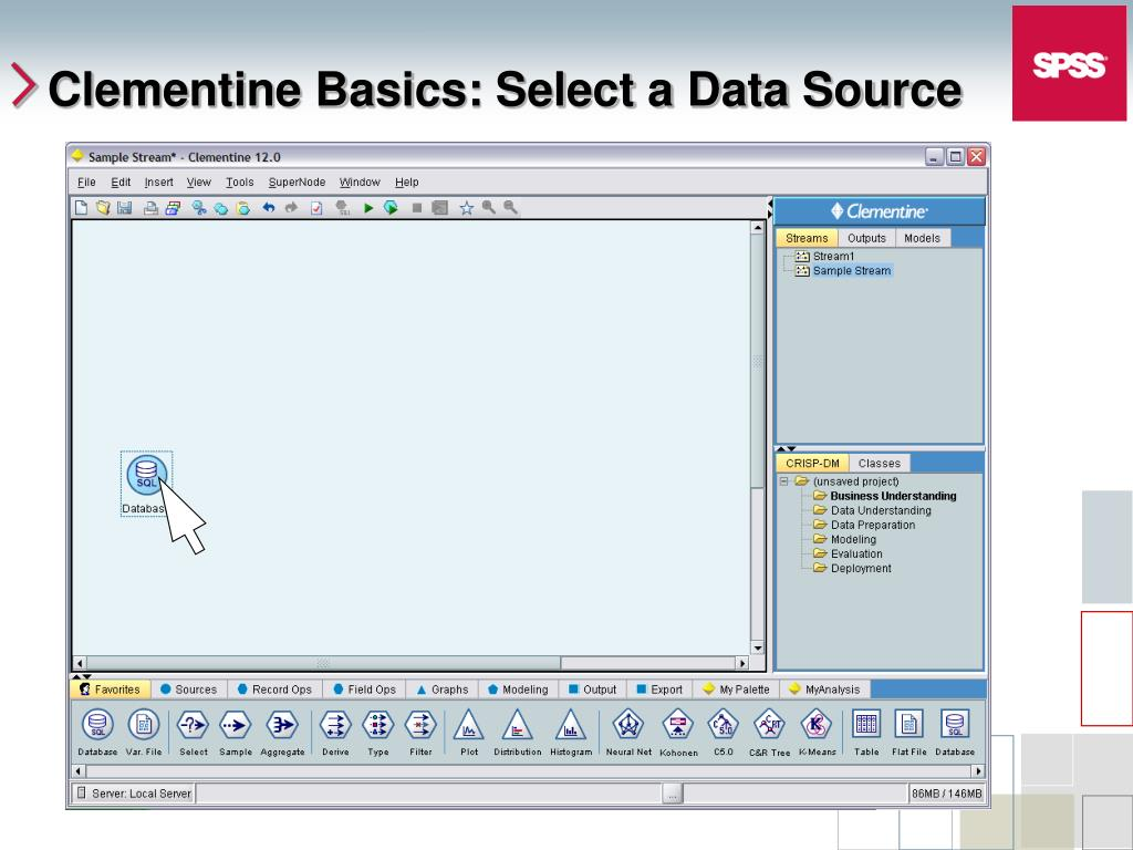 Clementine Basics: Select a Data Source