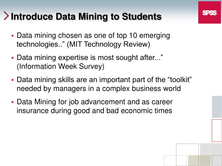 Introduce data mining to students