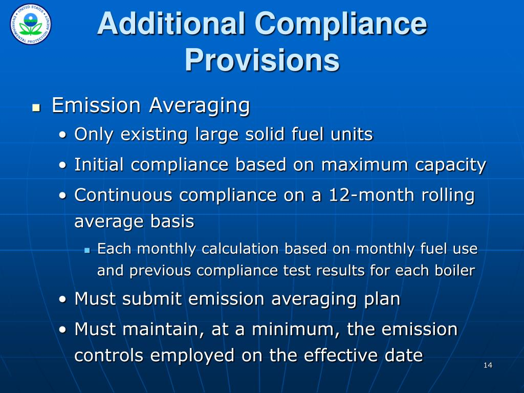 Additional Compliance Provisions