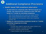 additional compliance provisions16