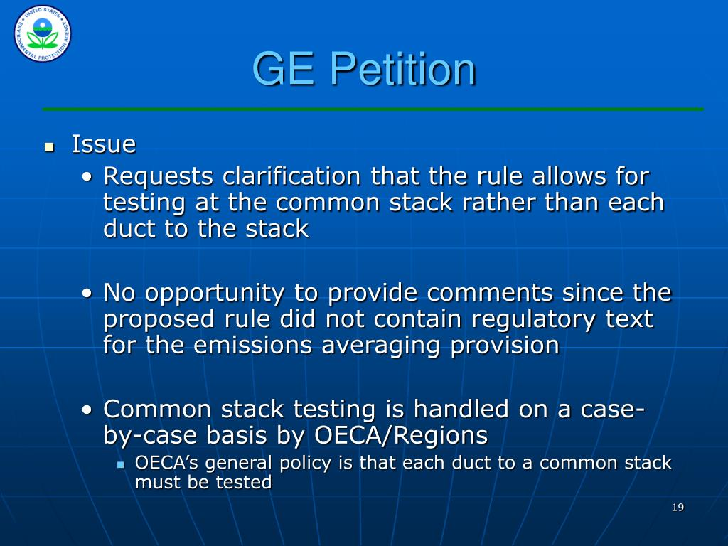 GE Petition