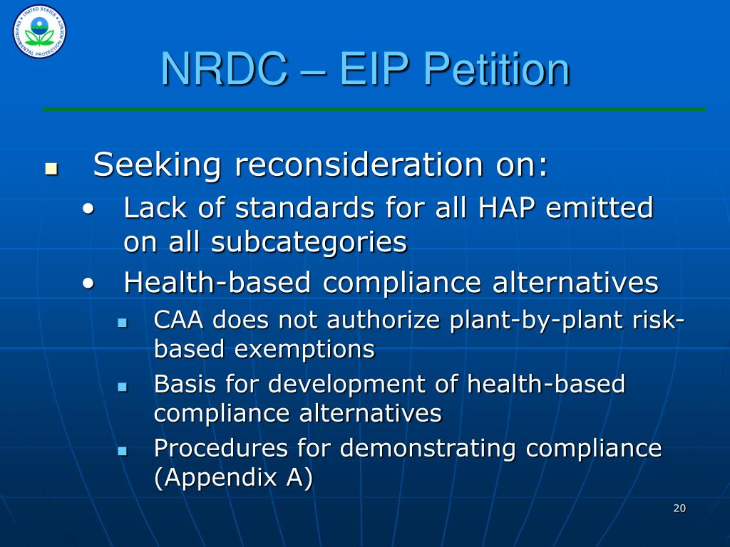 NRDC – EIP Petition